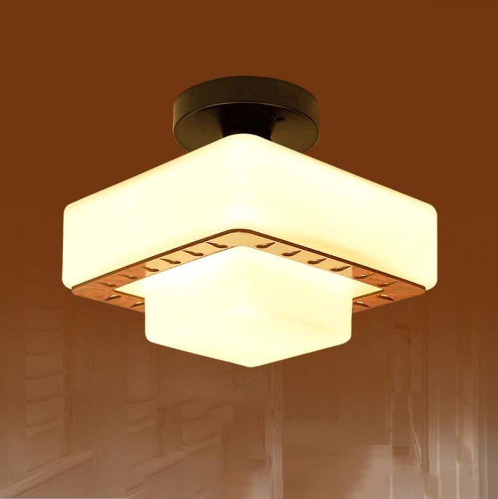 Moderne minimalistische Deckenlampe Massivholz Deckenlampe Original Holz Kreative Gangbeleuchtung Korridor Licht Eingang Beleuchtung Home Korridor Tür Lampe Garten Lampe Balkon Deckenleuchte Kronleuch