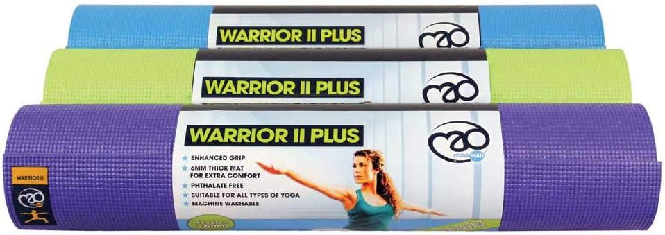 Yoga-Mad Unisex Adult Warrior II 6mm Yoga Mat