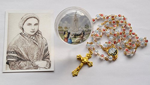 Fatima Rosary Beads with a Our Lady of Fatima Rosary Box & Prayer ()