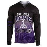 NFL Baltimore Ravens Super Bowl XLVII Champions Hoody Tee, Large