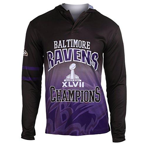 FOCO NFL Baltimore Ravens Super Bowl XLVII Champions Hoody Tee, X-Large