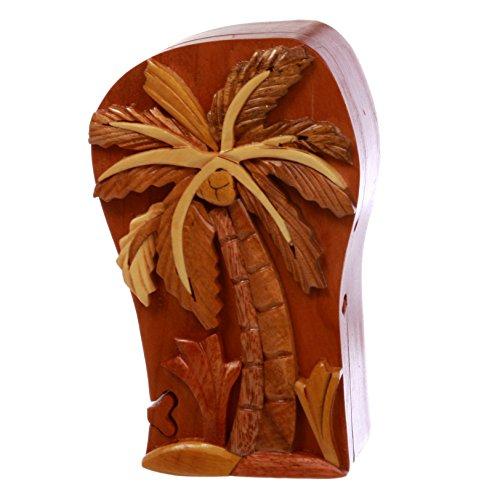 ecret Jewelry Puzzle Box - Palm Tree, Walnut (Kind Handcrafted Gift Box)