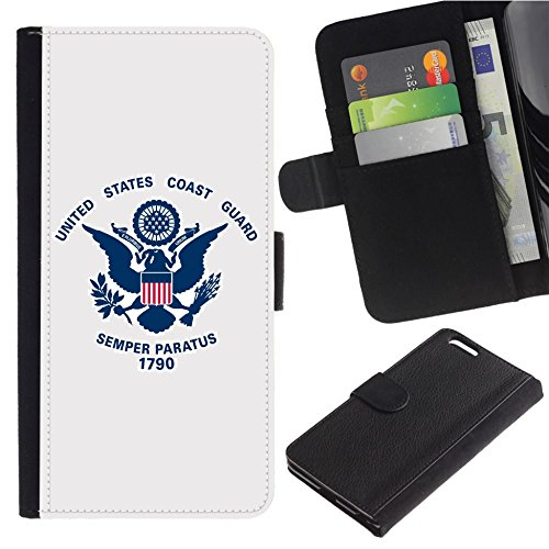 - [Flag_of_the_United_States_Coast_Guard] For SAMSUNG Galaxy S5 V/i9600/SM-G900 PU Flip Leather Wallet Holsters Pouch Skin Case