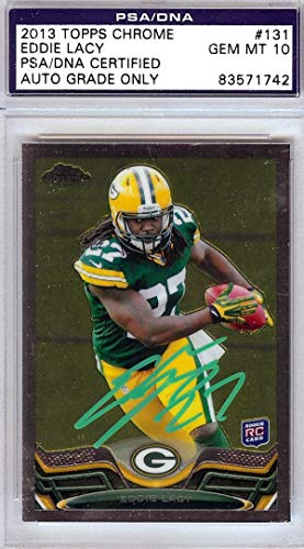 Eddie Lacy Autographed 2013 Topps Chrome Rookie Card, used for sale  Delivered anywhere in USA