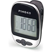 PINGKO Multi-function Portable Outdoor Sport Pedometer Step/distance/calories/ Counter - Black