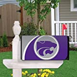 VictoryStore Yard Sign Outdoor Lawn Decorations: Kansas State University Magnetic Mailbox Cover (Design 3).