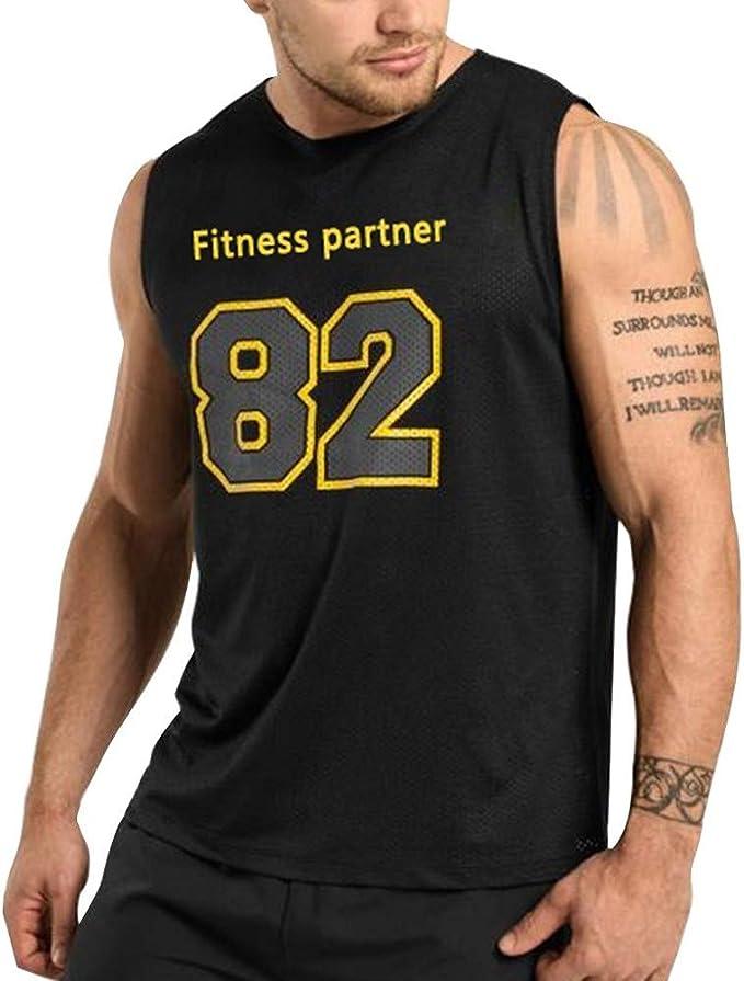 SUDADY Camisetas de Tirantes para Hombre, Estilo Baloncesto número ...