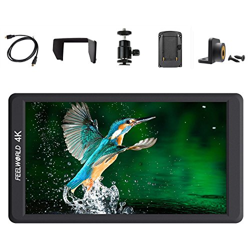 Feelworld F570 5.7″ IPS Full HD 1920×1080 On Camera Monitor Support 4K HDMI Input/Output for DSLR Cameras and Gimbal Stabilizer