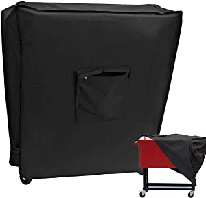 Cooler Cart Cover,Fit 80 QT Rolling Cooler Cover,Patio Ice Chest, Bar Beverage Cart Party Cooler Cart Protector Cover,Heavy Duty Dust Cover for Patio Cooler On Wheels Waterproof
