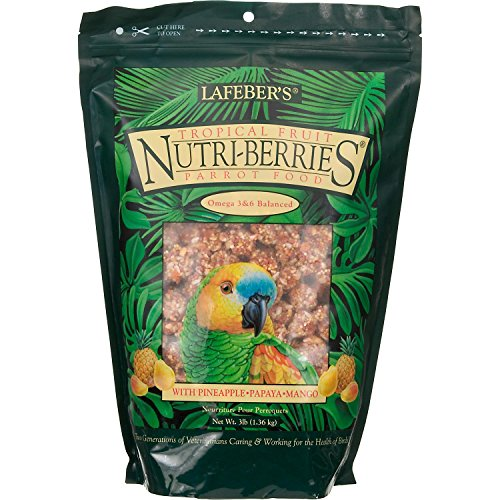 Lafeber?s Gourmet Tropical Fruit Nutri-Berries for Parrots 3 lb. Bag And S Berry