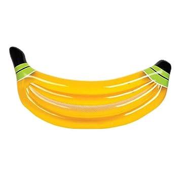Banana Inflable Fila Flotante, cojín Inflable Playa Playa ...