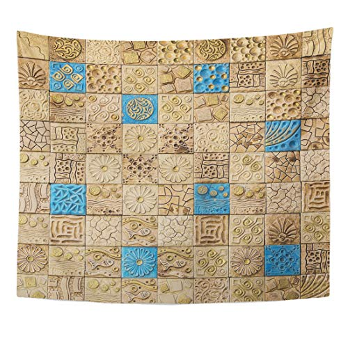 Emvency Tapestry Iranian Beige Beautiful Tiled House for sale  Delivered anywhere in USA