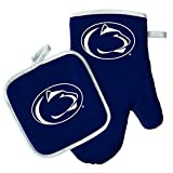 penn state grill set - Oven Mitt and Pot Holder Set - Barbeque BBQ Kitchen Backyard Outdoors - NCAA - Penn State Nittany Lions