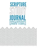 Scripture Study Journal Chapters: Chevron design Chapters blue