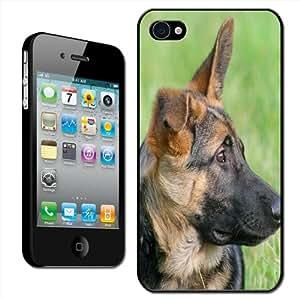 Fancy A Snuggle - Carcasa rígida para iPhone 4 y 4S con diseño de perro pastor alemán