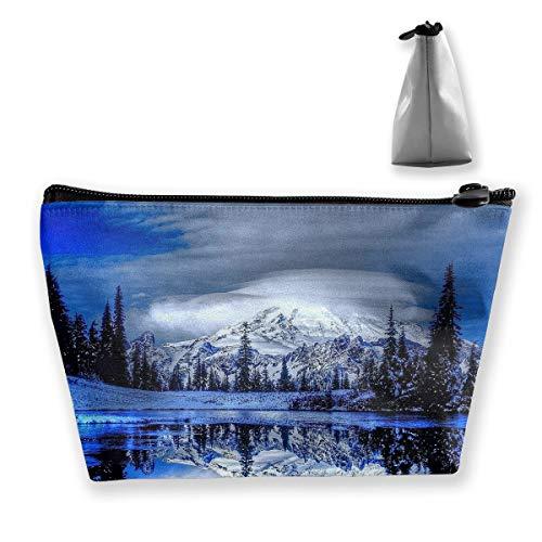 Travel Cosmetic Bags 6907891-winter-landscape-wallpaper-for-desktop Small Makeup Bag Multifunction Pouch Cosmetic Handbag Toiletries Organizer Bag for Women Girl