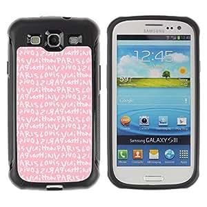 Suave TPU GEL Carcasa Funda Silicona Blando Estuche Caso de protección (para) Samsung Galaxy S3 III I9300 / CECELL Phone case / / pink Paris love text girls romantic /