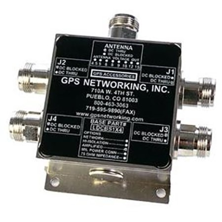 GPS Networking - ALDCBS1X4-N - GPS Active Antenna Splitter 1x4 by GPS Networking