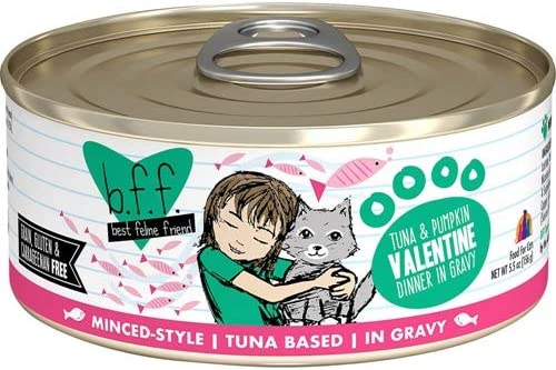 Best Feline Friend BFF Canned Cat Tuna Pumpkin Valentine 5.5 oz Case 24