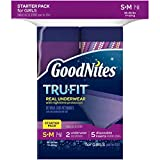 Health & Personal Care : GoodNites Tru-Fit Starter Kit Girl, 2 underwear, 5 disposable inserts, Small/Medium