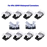 SUPERNIGHT 10 Pack 4 Pin LED Connector for
