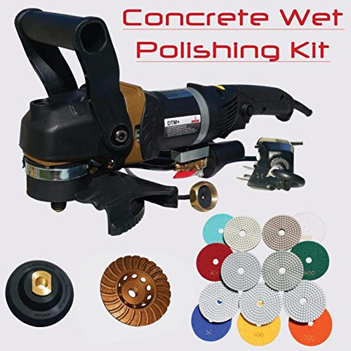12' Diamond Head (Stadea SWP112K Concrete Countertop Polishing Tools Package - Wet Polisher, Concrete Grinding Wheel, Concrete Polishing Pads Kit for Concrete Countertop Polishing)