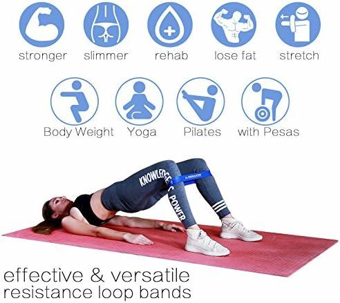 INMAKER Workout Bands Resistance for Women, Leg Bands for Working Out, Resistant Excersize Bands for Butt and Legs 5