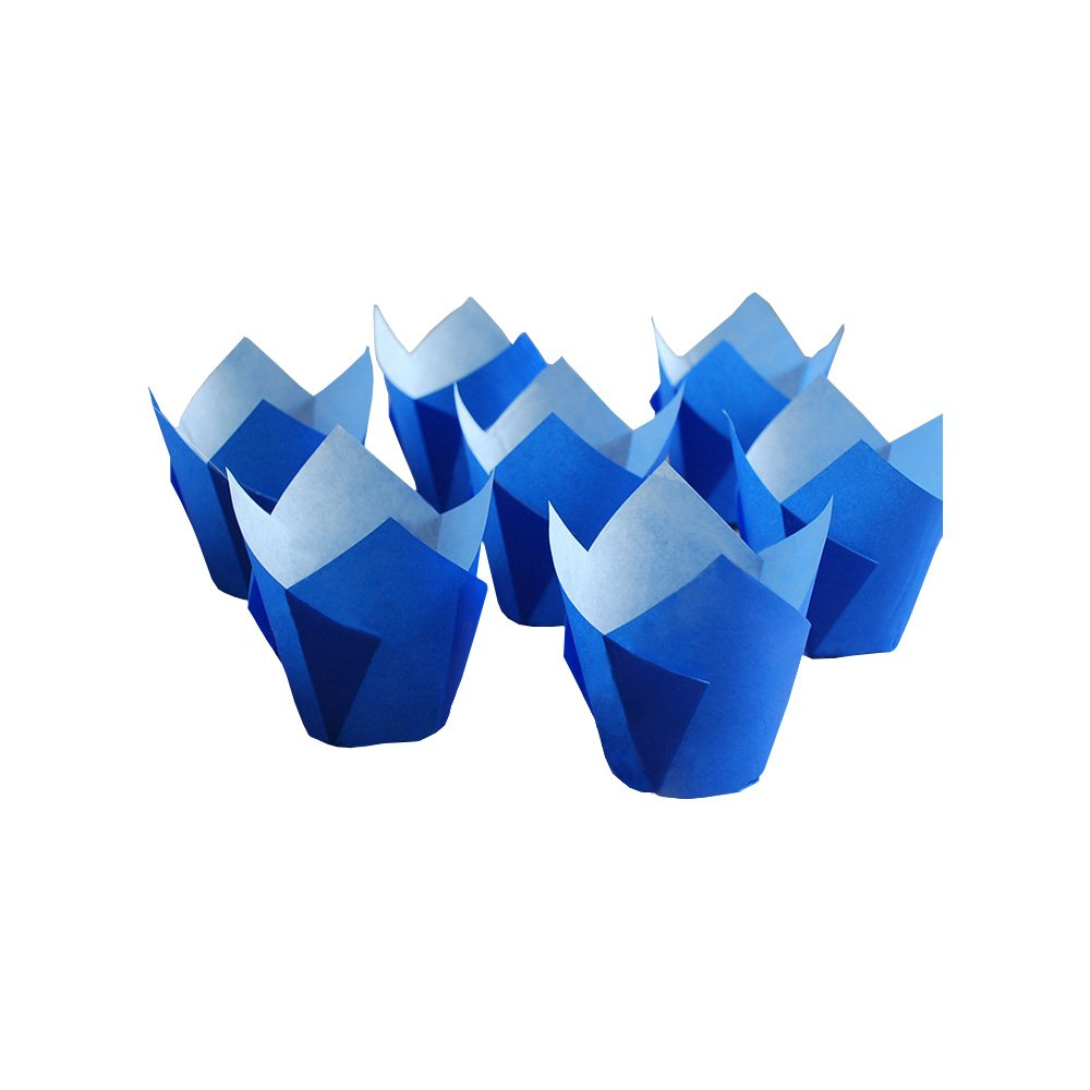Originals Group Royal Brown Tulip Muffin Cupcake Baking Paper Liners baking cups 100 pc. (100, Blue)