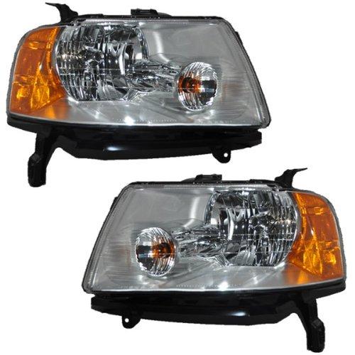 (Koolzap For 05-07 Ford Freestyle Headlight Headlamp Head Light Lamp Left Right Side Set PAIR)