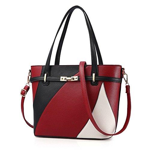 D'épaule Femmes Red PU BAILIANG sac Sac Mode à Main Bandoulière Brochage 0qfOUA
