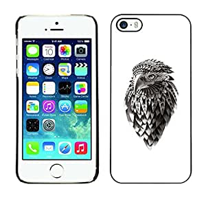 // PHONE CASE GIFT // Duro Estuche protector PC Cáscara Plástico Carcasa Funda Hard Protective Case for iPhone 5 / 5S / Jefe Eagle Hawk /