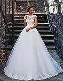 HAPPYMOOD Vestido de novia Cordón de las mujeres Vestido de novia Sirena Vestido de noche Vestido de novia Elegante Decoración romántica
