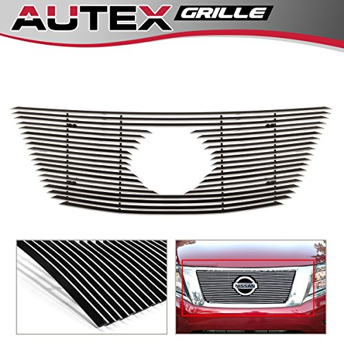 Pathfinder Billet (AUTEX N65923A Aluminum Polished Horizontal Billet Main Upper Grille for 2013 2014 2015 2016 Nissan Pathfinder Grill Insert)