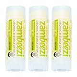 Beeswax Lip Balm by ZAMBEEZI - Lemongrass 3 pack - Crafted with USDA...
