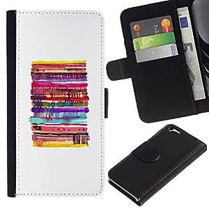 EJOY---La carpeta del tirón la caja de cuero de alta calidad de la PU Caso protector / Apple Iphone 6 / --Pancake blanca minimalista Alimentos
