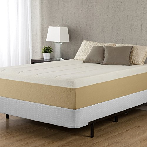 Zinus Jayanna 9 Inch High Profile BiFold Box Spring / Folding Mattress Foundation / Strong Steel Structure / No Assembly Required, Split Queen