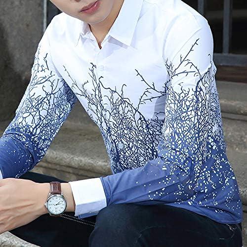 Camisas Casuales de Manga Larga para Hombres Camisa Blanca ...