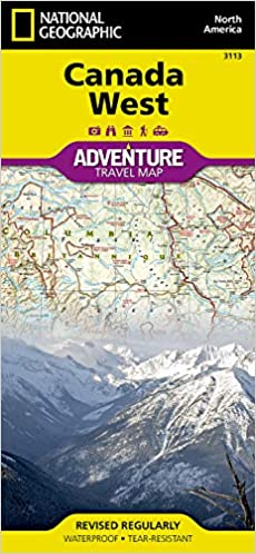 West Of Canada Map.Canada West Adventure Map National Geographic Maps 9781566956352
