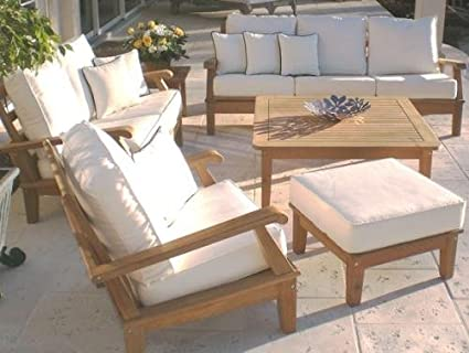 Amazon.com : Royal Teak Collection MIA3FO Miami Teak Sofa ...