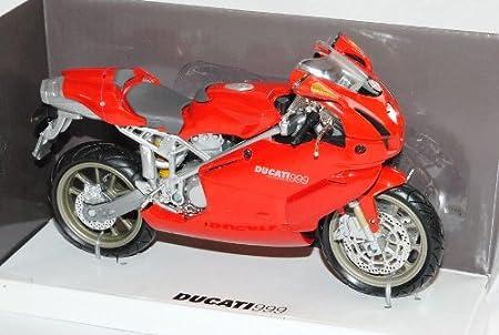 New Ray Ducati 999 Testastretta Superbike Rot 2003-2006 1//12 Modell Motorrad mit individiuellem Wunschkennzeichen