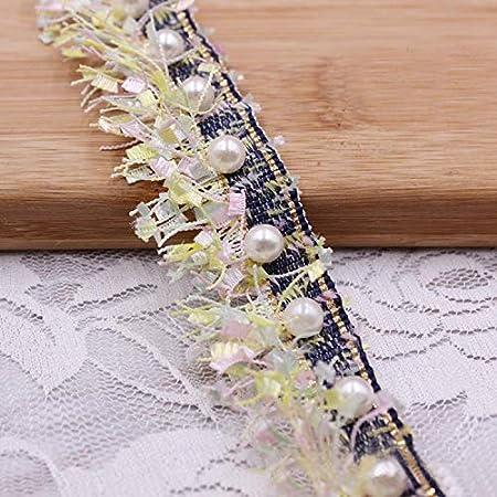 d67402e21968c 1 Meter Nylon Tassel Fringe Lace Edge Ribbon 3.8cm Width Vintage Style 4  Colours Trimmings