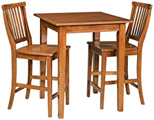Home style 5180 359 arts and crafts 3 piece for Arts and crafts 5 piece dining set