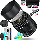 Canon EF-S 18-55mm f/3.5-5.6 IS II SLR Lens 16GB Memory Card Bundle includes 3 Piece Filter Kit (UV + CPL + FLD), Prime Seller Lens Cleaning Microfiber Cleaning Cloth, Memory Card Reader