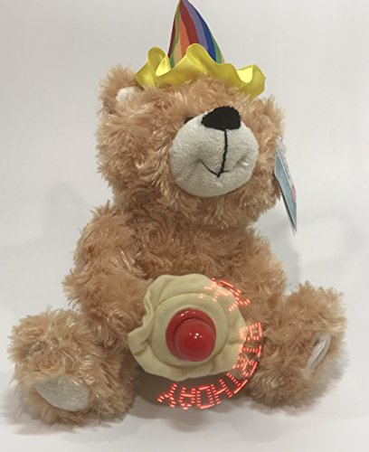 Birthday Message Bear (CUTE yellow BEAR with Message Fan for birthday)