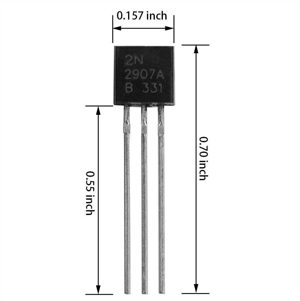 BOJACK 10 Values 250 Pcs A1015 BC327 BC337 C1815 S8050 S8550 2N2222 2N2907 2N3904 2N3906 PNP NPN Power General Purpose Transistors Assortment Kit