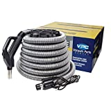 Central Vacuum Electric Hose - 24V - 110V - Swivel (35 feet) Designed To Fit All Central Vacuums- BEAM, Kenmore, Canavac, Vacuflo, DuoVac, Husky, and More