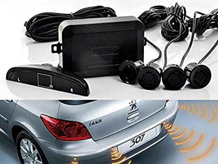 LED Distance Display Sound Warning Gray COCAR Car Auto Vehicle Reverse Backup Radar System with 4 Parking Sensors Distance Detection