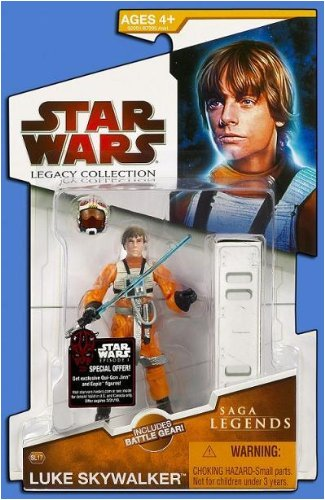 2009 Star Wars Legacy Collection, Luke Skywalker XWing Pilot, 33 4 Inch Figure SL No. 17.