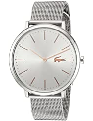 Lacoste Womens MOON Quartz Stainless Steel Casual Watch, Color:Silver-Toned (Model: 2000987)