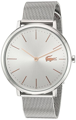 Lacoste Women's Moon Quartz Watch with Stainless-Steel Strap, Silver, 16 (Model: 2000987